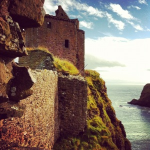 Dunnottar's tower. Considerably more real than the rest of the story.