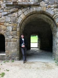 In the Cloister at Inchcolm Abbey